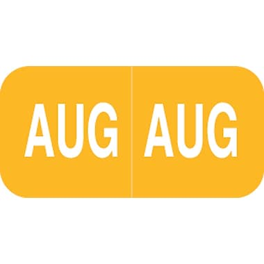 Medical Arts Press® Smead® Compatible Month Labels; August