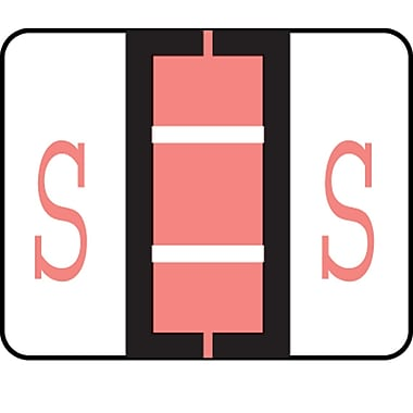 Medical Arts Press® TAB® Products Compatible Alpha Binder Sheet Style Labels; Letter S