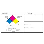 "Hazard Communication Medical Labels; Small, White, 1-1/8x2-1/4"", 25 Labels"