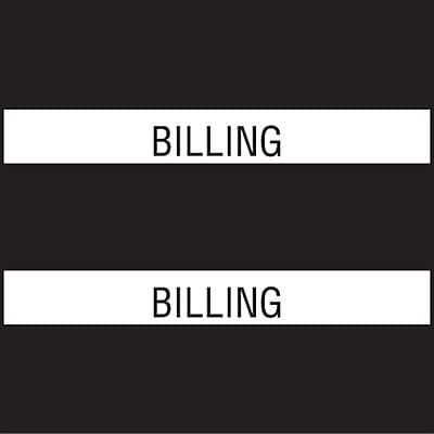 Medical Arts Press® Chart Divider Tabs; Billing, Black