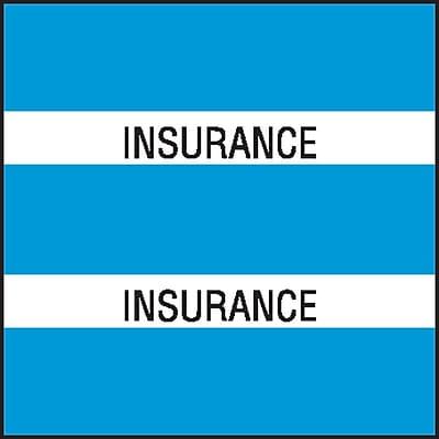 Medical Arts Press® Chart Divider Tabs; Insurance, Lt. Blue