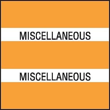 Medical Arts Press® Chart Divider Tabs; Miscellaneous, Orange