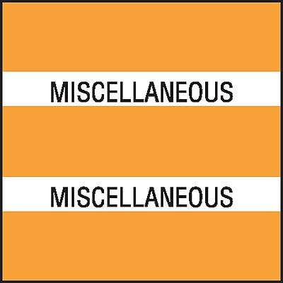 Medical Arts Press® Chart Divider Tabs; Miscellaneous, Orange
