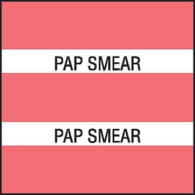 Medical Arts Press® Chart Divider Tabs; Pap Smear, Dk. Pink