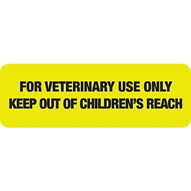 Veterinary Medication Labels; For Veterinary Use Only, Fl Chartreuse, 1/2x1-1/2