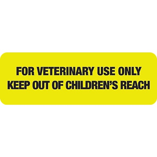 veterinary medication labels for veterinary use only fl chartreuse