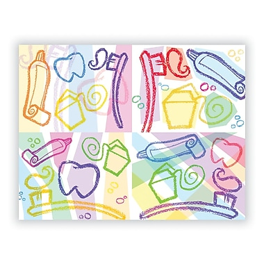 Graphic Image Assorted Laser Postcards, Dental Graphic