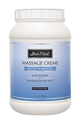 Bon Vital® Multi-Purpose Massage Creme; Unscented, Jar, 1 gallon