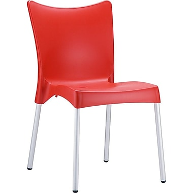 Siesta Exclusive Juliette Armless Stacking Chair; Red