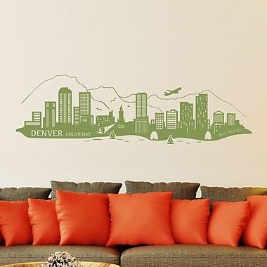 Style and Apply Denver Skyline Wall Decal; Black
