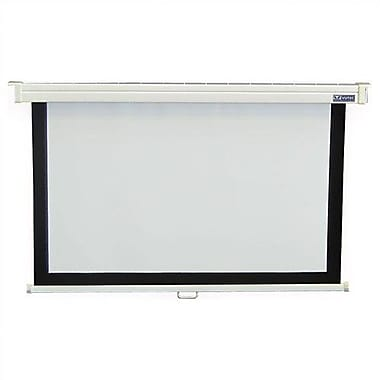 Vutec Consort Deluxe Matte White Manual Projection Screen; 60'' H x 80'' W