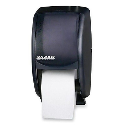 San Jamar Tissue Dispenser, 7-1/2''x7''x12-3/4'', Black/Pearl
