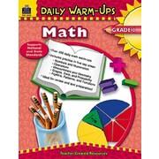 Teacher Created Resources Daily Warm-Ups Math Grade 1 Book