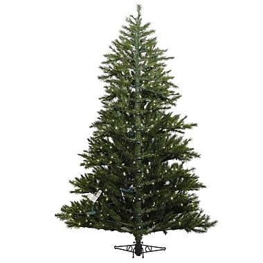 Vickerman Minnesota Pine Westbrook 7.5' Green Artificial Half Christmas Tree w/ Stand