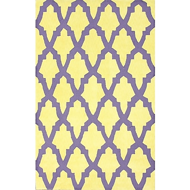 nuLOOM Brilliance Yellow/Purple Damian Area Rug; Rectangle 7'6'' x 9'6''