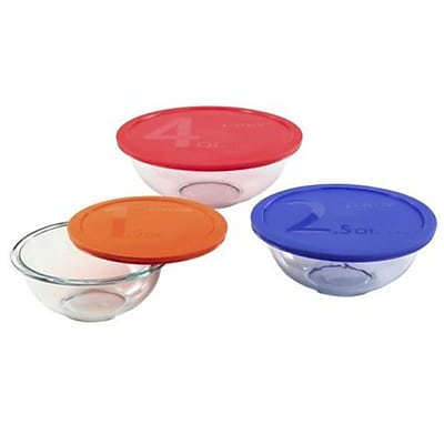 Pyrex Smart 6 Piece Mixing Bowl Set