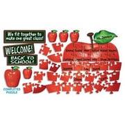 Teachers Friend Welcome Apple Puzzle Guide Bulletin Board Cut Out