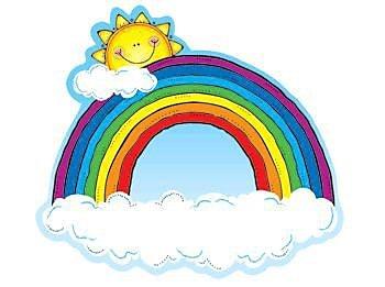 Carson Dellosa Publications Rainbows Bulletin Board Cut Out