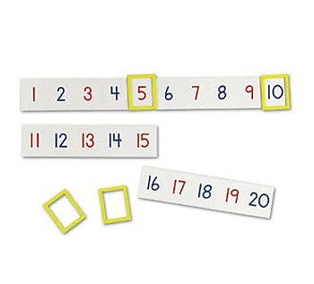 Learning Resources 24 Piece Magnetic Line Numbes Set
