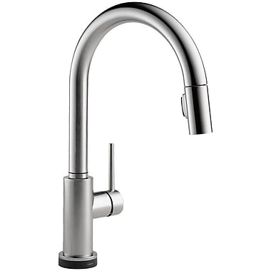 Delta Trinsic Kitchen Single Handle Pull Down Standard Kitchen Faucet; Arctic Stainless
