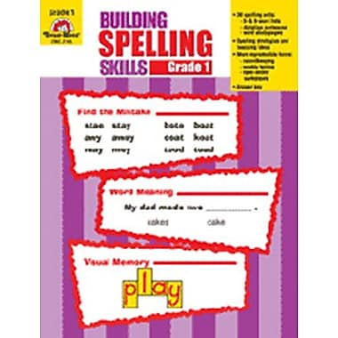 Evan-Moor Building Spelling Skills Grade 1 Book