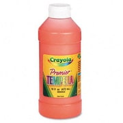 Crayola Premier Tempera Paint, Orange, 16 Ounces