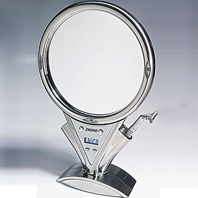 Zadro Z'Fogless Power Zoom Lighted Mirror; Stainless Steel WYF078276673123