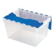 Akro Mils Keep Box, 12-Gallon, 15''x21-1/2''x12-1/2'', Clear/Blue