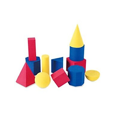 Learning Resources 12 Piece Hands-on Soft Geometric Set