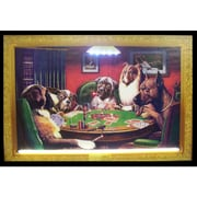 Neonetics Bar & Game Room Dogs Playing Poker Neon LED Framed Vintage Advertisement