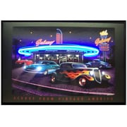 Neonetics Retro Galaxy Diner Neon LED Framed Vintage Advertisement