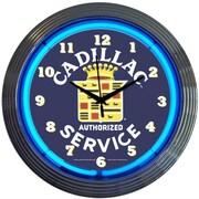 Neonetics Cars and Motorcycles 15'' Cadillac Service Wall Clock