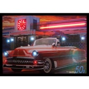 Neonetics Retro Nifty Fifties Neon LED Framed Photographic Print