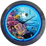 Neonetics Bar and Game Room 15'' Aquarium Wall Clock