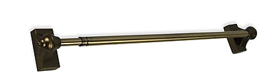 Versailles Home Fashions Magnetic Single Curtain Rod; Antique Brass