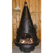 The Blue Rooster Garden Style Aluminum Wood Burning Chiminea; Charcoal
