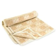 Novica Hypnotic Inca Throw Blanket; Tan