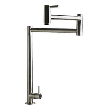 Alfi Brand Retractable Pot Filler Kitchen Faucet; Brushed Stainless Steel