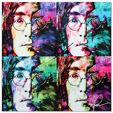 Metal Art Studio 'John Lennon Beatles' Colorful Urban Pop Art Wall Clock