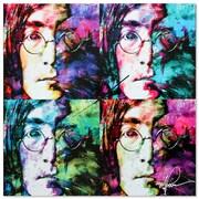 Metal Art Studio 'John Lennon Beatles' Colorful Urban Pop Art Wall Clock