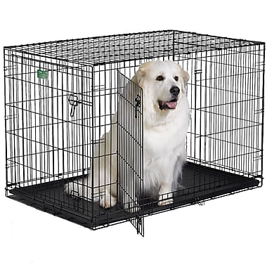 Midwest Homes For Pets iCrate Double Door Pet Crate; X Large (33'' H x 30'' W x 48'' L)