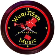 Neonetics Retro 15'' Wurlitzer Wall Clock