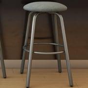 Amisco Log 27.38'' Swivel Bar Stool; Glossy Grey/Medium Grey