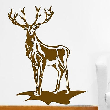 Style and Apply Deer Wall Decal; Dark Green