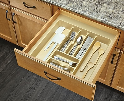 Rev-A-Shelf Drawer Organizer; Almond