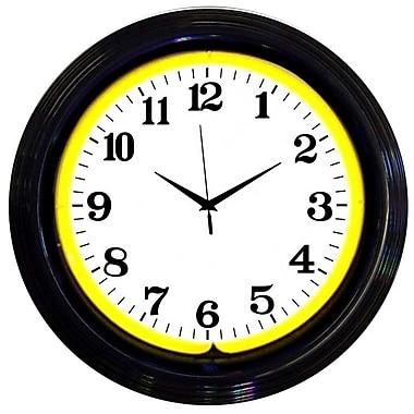 Neonetics 15'' Standard Wall Clock; Black / Yellow