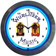 Neonetics 15'' Wurlitzer Jukebox Wall Clock