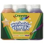 Crayola Tempera Paint Washable 3ct 8oz