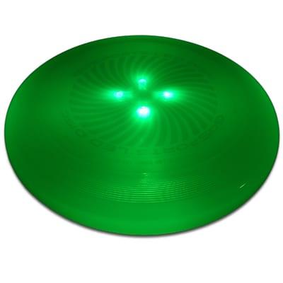 GoSports LED Light Up Flying Ultimate Disc; Green
