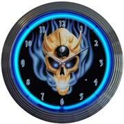 Neonetics 15'' 8 Ball Skull Wall Clock